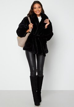 BUBBLEROOM Vadah Faux Fur Jacket Black bubbleroom.dk