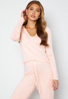 BUBBLEROOM Lynne long sleeve pyjama top Light pink bubbleroom.dk