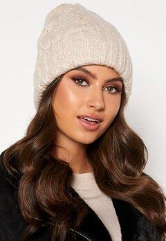BUBBLEROOM Malin knitted hat Beige Bubbleroom.dk