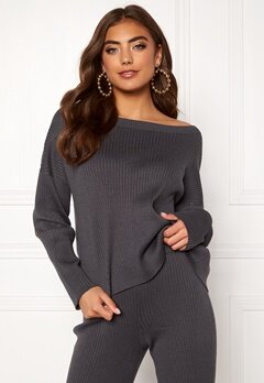 BUBBLEROOM Marah knitted sweater Grey Bubbleroom.dk
