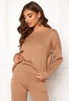 BUBBLEROOM Marah knitted sweater Camel Bubbleroom.dk