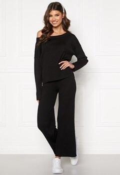 BUBBLEROOM Marah knitted trousers Black Bubbleroom.dk