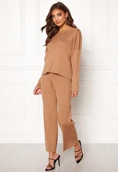 BUBBLEROOM Marah knitted trousers Camel Bubbleroom.dk