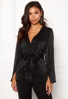 BUBBLEROOM Marianna blazer blouse Black Bubbleroom.dk