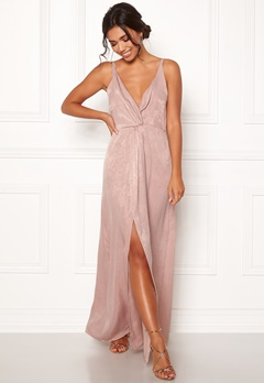 BUBBLEROOM Marianna front twist gown Silver coloured / Pink Bubbleroom.dk