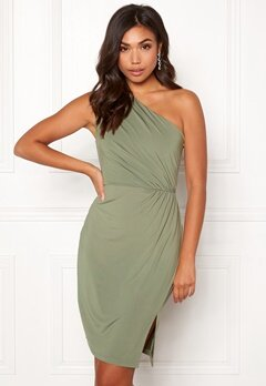 BUBBLEROOM Marianna one shoulder short dress Green Bubbleroom.dk