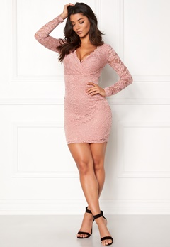 Make Way Martha lace dress Dusty pink Bubbleroom.dk