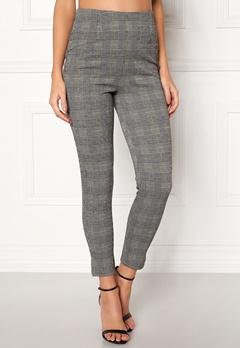 BUBBLEROOM Megan trousers Grey / Yellow / Checked Bubbleroom.dk