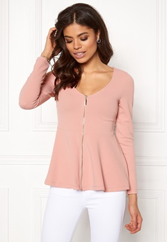 BUBBLEROOM Megan zip jacket Dusty pink Bubbleroom.dk