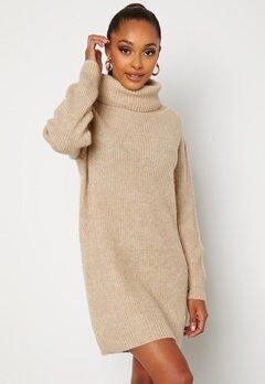 BUBBLEROOM Melissi knitted sweater dress Beige bubbleroom.dk