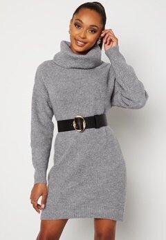 BUBBLEROOM Melissi knitted sweater dress Grey-blue bubbleroom.dk
