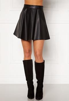 BUBBLEROOM Michelle PU skirt Black Bubbleroom.dk