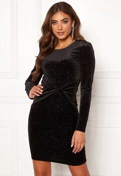 BUBBLEROOM Mila sparkling dress Black / Silver Bubbleroom.dk