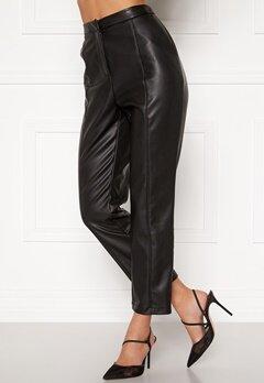 BUBBLEROOM Mina PU trousers Black Bubbleroom.dk