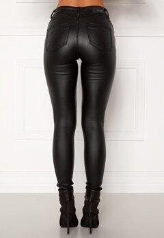 BUBBLEROOM Miranda Push-up coated jeans Black Bubbleroom.dk