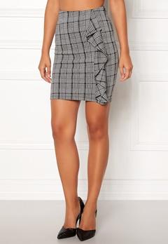 BUBBLEROOM Mirella frill skirt Grey / White / Black / Print Bubbleroom.dk