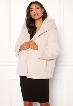 BUBBLEROOM Molly faux fur jacket Beige Bubbleroom.dk