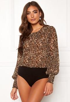 BUBBLEROOM Nicco body blouse Leopard Bubbleroom.dk