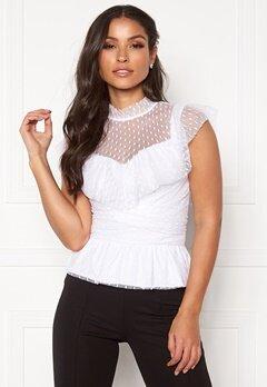 BUBBLEROOM Nilla blouse White Bubbleroom.dk