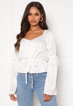 BUBBLEROOM Novalie blouse White Bubbleroom.dk
