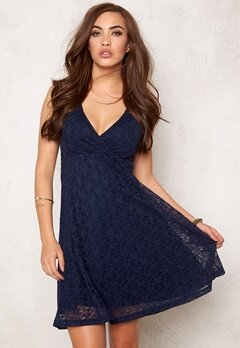 BUBBLEROOM Paris lace dress Dark blue Bubbleroom.dk
