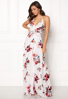 BUBBLEROOM Rosemary maxi dress White / Patterned / Floral Bubbleroom.dk