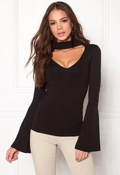 BUBBLEROOM Rouge knitted sweater Black Bubbleroom.dk