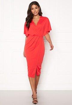 BUBBLEROOM Selena dress Coral red Bubbleroom.dk