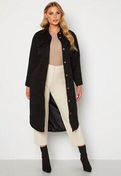 BUBBLEROOM Sofie Shirt Coat Shacket Black bubbleroom.dk