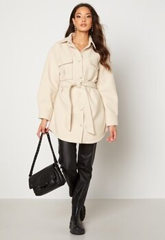 BUBBLEROOM Sonya Shirt Jacket   Light beige Bubbleroom.dk