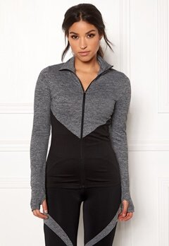 BUBBLEROOM SPORT Burpees then slurpees sport jacket Black / Grey Bubbleroom.dk