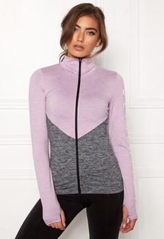 BUBBLEROOM SPORT Burpees then slurpees sport jacket Grey melange / Lilac melange Bubbleroom.dk