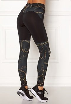 BUBBLEROOM SPORT Excite sport tights Black / Patterned Bubbleroom.dk