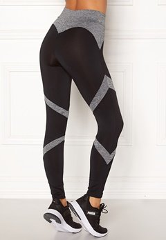 BUBBLEROOM SPORT Fierce sport tights Black / Grey melange Bubbleroom.dk