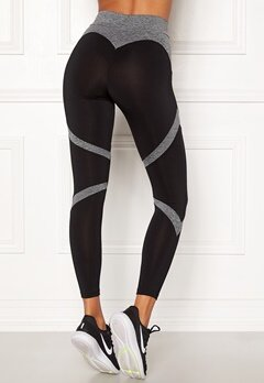 BUBBLEROOM SPORT Fierce Sport Tights Black / Grey Bubbleroom.dk