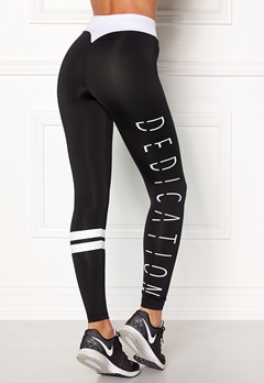 BUBBLEROOM SPORT Move it sport tights Black / White / Text Bubbleroom.dk