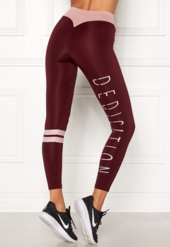 BUBBLEROOM SPORT Move it sport tights Dark red / Pink / Text Bubbleroom.dk