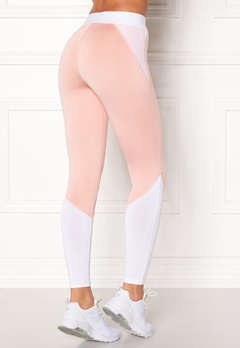 BUBBLEROOM SPORT Strongest sport tights Light pink / White Bubbleroom.dk