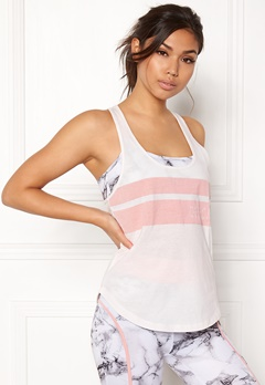 BUBBLEROOM SPORT Success Sport Top White / Pink / Text Bubbleroom.dk