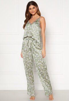 BUBBLEROOM Steph printed pyjama set Dusty green / Floral Bubbleroom.dk