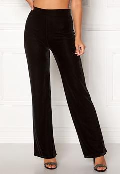 BUBBLEROOM Thea velvet trousers Black Bubbleroom.dk