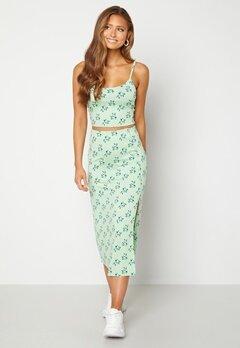BUBBLEROOM Thelsie midi skirt Green / Floral bubbleroom.dk