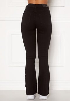 BUBBLEROOM Tove high waist flared superstretch Black Bubbleroom.dk