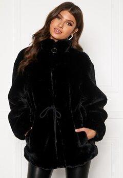 BUBBLEROOM Trixie faux fur jacket Black Bubbleroom.dk