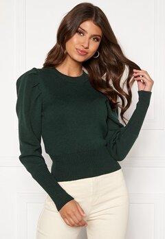 BUBBLEROOM Tua knitted sweater Dark green Bubbleroom.dk