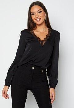 BUBBLEROOM Vallie lace blouse Black bubbleroom.dk