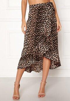 BUBBLEROOM Villima midi skirt Leopard Bubbleroom.dk