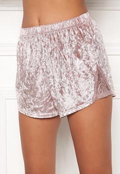BUBBLEROOM Wilda velvet shorts Dusty pink Bubbleroom.dk