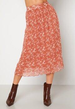 BUBBLEROOM Zarie pleated skirt Dusty pink / Floral bubbleroom.dk