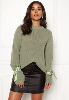 BUBBLEROOM Casey knitted sweater Dusty green Bubbleroom.dk